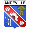 Stickers coat of arms Andeville adhesive sticker