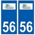 56 Hennebont logo autocollant plaque stickers ville