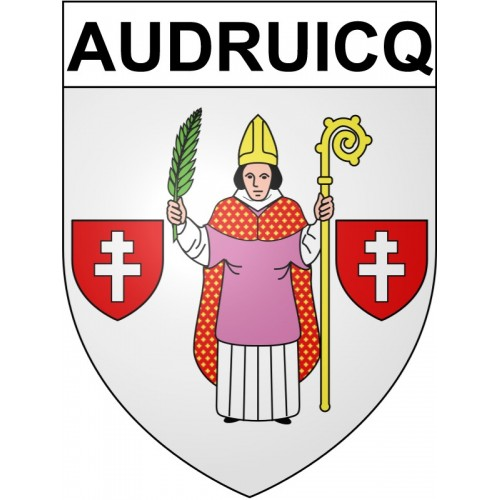 Stickers coat of arms Audruicq adhesive sticker