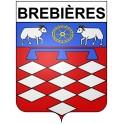 Brebières Sticker wappen, gelsenkirchen, augsburg, klebender aufkleber