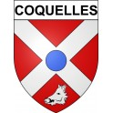 Stickers coat of arms Coquelles adhesive sticker