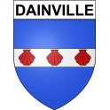 Stickers coat of arms Dainville adhesive sticker