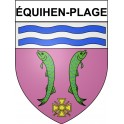 Stickers coat of arms équihen-Plage adhesive sticker