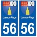56 Larmor-Plage blason autocollant plaque stickers ville