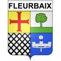 Stickers coat of arms Fleurbaix adhesive sticker