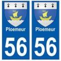 56 Ploemeur blason autocollant plaque stickers ville