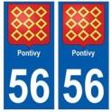 56 Pontivy blason autocollant plaque stickers ville