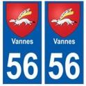 56 Vannes blason autocollant plaque stickers ville