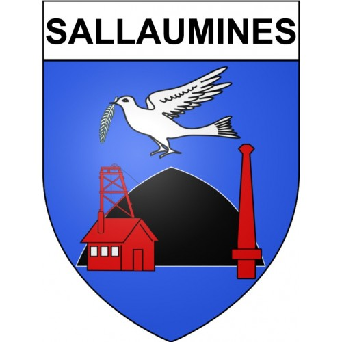 Stickers coat of arms Sallaumines adhesive sticker