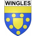 Stickers coat of arms Wingles adhesive sticker