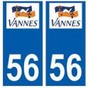 56 Vannes logo autocollant plaque stickers ville