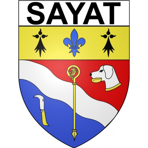 Stickers coat of arms Sayat adhesive sticker