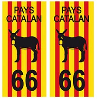 arrondis 66 Pays Catalan autocollant plaque