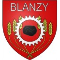 Blanzy 71 ville Stickers blason autocollant adhésif