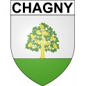 Stickers coat of arms Chagny adhesive sticker