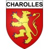 Stickers coat of arms Charolles adhesive sticker