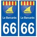 66 Le Barcarès blason autocollant plaque ville
