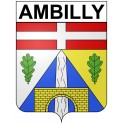 Stickers coat of arms Ambilly adhesive sticker
