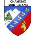 Stickers coat of arms Chamonix-Mont-Blanc adhesive sticker
