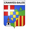 Stickers coat of arms Cranves-Sales adhesive sticker
