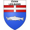 Stickers coat of arms évian-les-Bains adhesive sticker