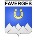 Stickers coat of arms Faverges adhesive sticker