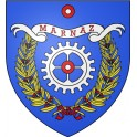 Stickers coat of arms Marnaz adhesive sticker