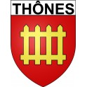 Stickers coat of arms Thônes adhesive sticker