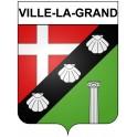 Stickers coat of arms Ville-la-Grand adhesive sticker