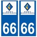 66 Port-Barcarès logo autocollant plaque ville