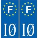 17 Ile d'Oléron sticker autocollant plaque immatriculation auto