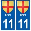 11 Bram coat of arms city sticker plate