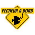 Pêcheur à bord autocollant adhésif sticker
