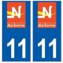11 Narbonne logo ville autocollant plaque
