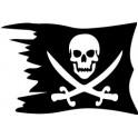 Sticker flag pirate sticker logo 2