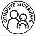 Sticker autocollant Adhesif Conduite Supervisée logo 23 voiture