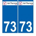 73 Val Thorens logo autocollant plaque immatriculation auto ville sticker