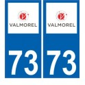 73 Valmorel logo autocollant plaque immatriculation auto ville sticker