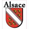 Alsace 67 68 ville sticker blason écusson numéro 6 autocollant adhésif