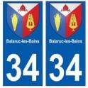 34 Balaruc-les-Bains blason autocollant plaque immatriculation ville