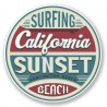 2 x 10 cm - Surfing California USA Sunset beach huntington surf logo32 autocollant adhésif sticker