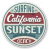 2 x 10 cm - Surfing California USA Sunset beach huntington surf logo32 autocollant adhésif sticker