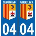 04 Alpes de Hautes Provence Région SUD logo sticker autocollant plaque immatriculation auto