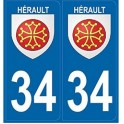 34 Hérault Occitan sticker plate