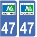 47 Lot et Garonne sticker plate