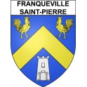 Stickers coat of arms Franqueville-Saint-Pierre adhesive sticker