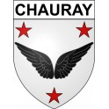 Stickers coat of arms Chauray adhesive sticker