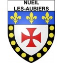 Stickers coat of arms Nueil-les-Aubiers adhesive sticker
