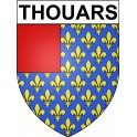 Stickers coat of arms Thouars adhesive sticker