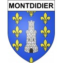 Stickers coat of arms Montdidier adhesive sticker